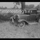 FARMLAND AUCTION NEW CARLISLE OHIO 1938 PRE-WW2 :ANTIQUE AUTOMOBILE PHOTO (8x10)