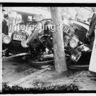 CAR WRECK/CRASH INTO TREE 1918 :ANTIQUE AUTOMOBILE PHOTO (8x10)