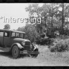 FAMILY IN CAR CAMPED BY ROADSIDE-DAY LABORERS :ANTIQUE AUTOMOBILE PHOTO (8x10)
