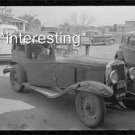 CAR HELD WITH WIRES SEBASTIN,TX: STUDIO QUALITY ANTIQUE AUTOMOBILE PHOTO(8x10)