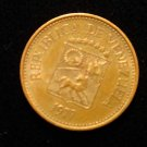 Vintage ANTIQUE OLD COIN: VENEZUELA 5 CENTIMOS, 1977 SOUTH AMERICA, CREST COIN