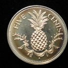 Vintage ANTIQUE OLD COIN: PROOF BAHAMAS SILVER PINEAPPLE COIN 1974