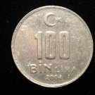 Vintage ANTIQUE OLD COIN: 2004 TURKEY TURKISH 100 LIRA BIN COIN CRESCENT MOON