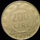 Vintage ANTIQUE OLD COIN: 200 LIRE 1979 ITALY ITALIAN LIRAS LIRA COIN