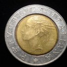 ANTIQUE Vintage Coin: 1991 500 LIRE LIRA LIRAS COIN: ITALY ITALIAN EUROPE