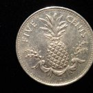 ANTIQUE Vintage Coin: 1998 FRUIT PINEAPPLE COMMONWEALTH OF THE BAHAMAS COIN