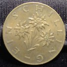Antique Vintage Coin: 1959 REPUBLIC OF AUSTRIA, ONE 1 SCHILLING SHILLING COIN
