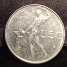 Antique Vintage Coin: 1976 50 LIRA ITALY, ITALIAN COIN