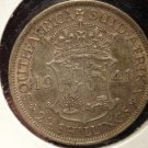 Antique/Vintage World Coin: Large Silver South African 1941 2.5 Shillings 2 1/2