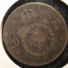 Antique/Vintage World Coin: 20 Reis Portugal? Unknown Date 1860? Coin