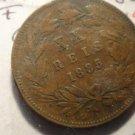 Antique/Vintage World Coin: XX 20 Reis 1885, Large Coin: Luiz I Rei, Portugal