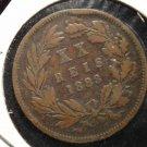 Antique/Vintage World Coin: XX 20 Reis 1883, Large Coin: Luiz I Rei, Portugal