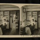 ORIGINAL STEREOVIEW ANTIQUE PHOTO ART: SEARS AND ROEBUCK: EMPLOYEES HOSPITAL