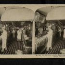 ORIGINAL STEREOVIEW ANTIQUE PHOTO ART: SEARS AND ROEBUCK: KITCHEN, SEROCO REST.