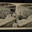 ORIGINAL STEREOVIEW ANTIQUE PHOTO ART: SEARS AND ROEBUCK: AUTO COVERING MACHINES