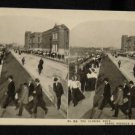 ORIGINAL STEREOVIEW ANTIQUE PHOTO ART: SEARS AND ROEBUCK: CLOSING HOUR WORKDAY