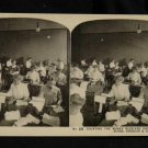 ORIGINAL STEREOVIEW ANTIQUE PHOTO ART: SEARS AND ROEBUCK: MONEY RECEIVING DEPT
