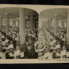 ORIGINAL STEREOVIEW ANTIQUE PHOTO ART: SEARS AND ROEBUCK: RECORDING ORDERS