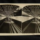ORIGINAL STEREOVIEW ANTIQUE PHOTO ART: SEARS AND ROEBUCK: THE GREAT TUNNEL