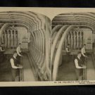 ORIGINAL STEREOVIEW ANTIQUE PHOTO ART: SEARS AND ROEBUCK: PNEUMATIC TUBE STATION