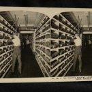 ORIGINAL STEREOVIEW ANTIQUE PHOTO ART: SEARS AND ROEBUCK: TALKING MACHINE RECORD