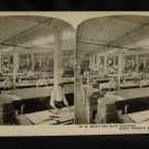 ORIGINAL STEREOVIEW ANTIQUE PHOTO ART: SEARS AND ROEBUCK: MEN + BOYS CLOTHING