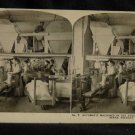 ORIGINAL STEREOVIEW ANTIQUE PHOTO ART: SEARS AND ROEBUCK: AUTOMATIC MACHINES CO.
