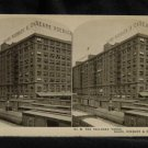 ORIGINAL STEREOVIEW ANTIQUE PHOTO ART: SEARS AND ROEBUCK: RAILROAD YARDS TRAINS