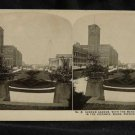 ORIGINAL STEREOVIEW ANTIQUE PHOTO ART: SEARS AND ROEBUCK: =MERCHANDISE BUILDING