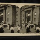 ORIGINAL STEREOVIEW ANTIQUE PHOTO ART: SEARS AND ROEBUCK: MAIN ENTRANCE BUILDING