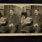 ORIGINAL STEREOVIEW ANTIQUE CARD ART: GENUINE PHOTO MR.R.W. SEARS AT HIS DESK