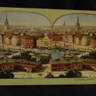 ORIGINAL STEREOVIEW ANTIQUE CARD ART: STOCKHOLM, SWEDEN, CITY