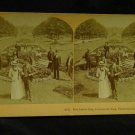 ORIGINAL STEREOVIEW ANTIQUE CARD ART:RED LETTER DAY, FAIRMONT PARK, PHILADELPHIA