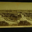 ORIGINAL STEREOVIEW ANTIQUE CARD ART: COPENHAGEN'S HARBOR, DENMARK 1897 EUROPE