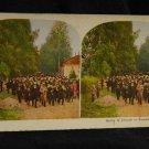 "ORIGINAL STEREOVIEW ANTIQUE CARD ART: QUAKER OATS COMPANY ""CHURCH IN SWEDEN"""