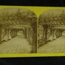 ORIGINAL STEREOVIEW ANTIQUE CARD ART: PROSPECT PARK, NEW YORK, GIRLS FASHION