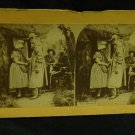 "ORIGINAL STEREOVIEW ANTIQUE CARD ART: ""THE RECRUIT"" LIFE FRO GROUPS PHOTOGRAPHS"