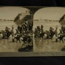 ORIGINAL STEREOVIEW ANTIQUE CARD ART: WATER CARRIERS, NILE RIVER, EGYPT WOMEN