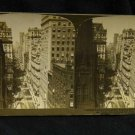 ORIGINAL STEREOVIEW ANTIQUE CARD ART: 1903, BROADWAY NEW YORK PHOTO STREET SCENE