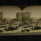 ORIGINAL STEREOVIEW ANTIQUE CARD ART: CUIRASSIER GUARDS, BERLIN, GERMANY PARADE