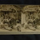 ORIGINAL STEREOVIEW ANTIQUE CARD ART: KEYSTONE: FILIPINO CHILDREN, LUZON ISLAND