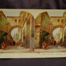 ORIGINAL STEREOVIEW ANTIQUE CARD ART: ECCE HOMO ARCH, JERUSALEM, PALESTINE