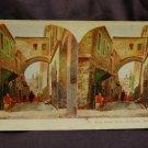 ORIGINAL STEREOVIEW ANTIQUE CARD ART: ECCE HOMO ARCH, JERUSALEM, PALESTINE