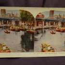 ORIGINAL STEREOVIEW ANTIQUE CARD ART: CATHEDRAL FROM GRAND CANAL, ROTTERDAM