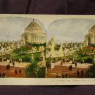 ORIGINAL STEREOVIEW ANTIQUE CARD ART: FESTIVAL HALL, WORLDS FAIR, ST. LOUIS