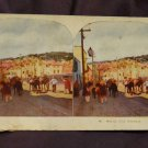 "ORIGINAL STEREOVIEW ANTIQUE CARD ART: ROYAL SERIES: ""MEXICO CITY WORKERS"""