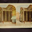 ORIGINAL STEREOVIEW ANTIQUE CARD ART: ROYAL SERIES: &quot;PANTHEON, ROME, EUROPE&quot;