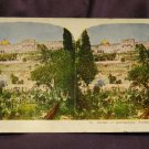 ORIGINAL STEREOVIEW ANTIQUE CARD ART: ROYAL: &quot;GARDEN OF GETHAEMANE, PALESTINE
