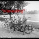 STUDIO QUALITY ANTIQUE MOTORCYCLE PHOTO:(8x10):MOTORCYCLE TEAM RELAY FISCO 1914