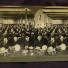 ORIGINAL STEREOVIEW ANTIQUE PHOTO: DINING ROOM, SOLDIERS HOME, MARION INDIANA